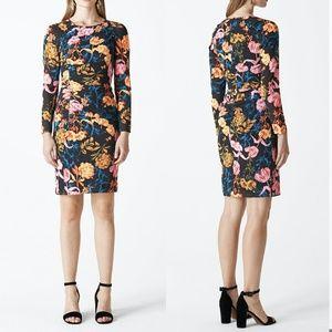 WHISTLES Silk Long Sleeve Dress
